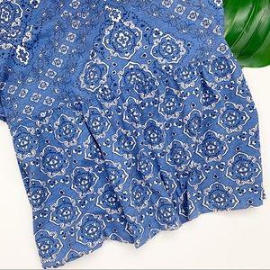Aeropostale Dresses - AEROPOSTALE Maxi Dress Blue Strap Print Ruffle XS